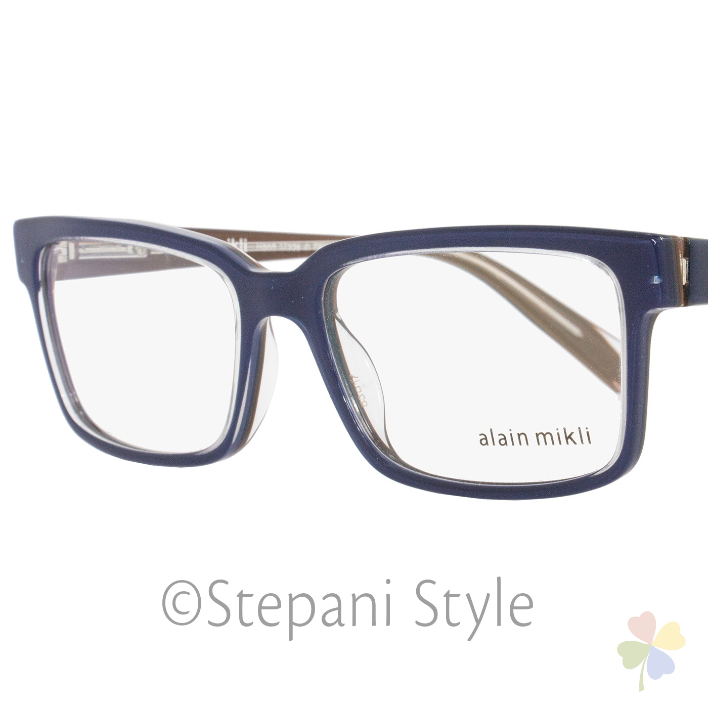 11ba90f81f Alain Mikli Rectangular Eyeglasses A03033 M0JV Size  53mm Navy Blue Clear  3033 1 of 4Only 1 available ...