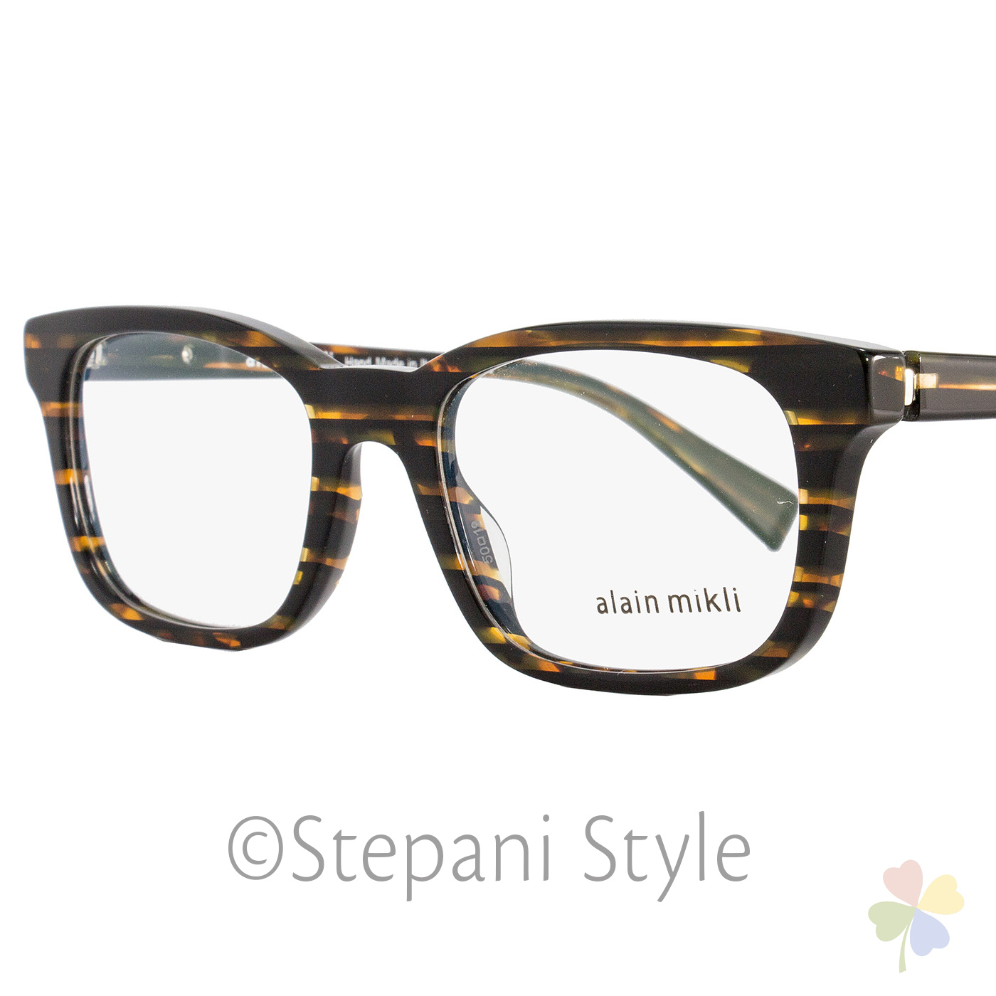 3e06d4e7c7 Image is loading Alain-Mikli-Rectangular-Eyeglasses-A03039-2891-Size-50mm-