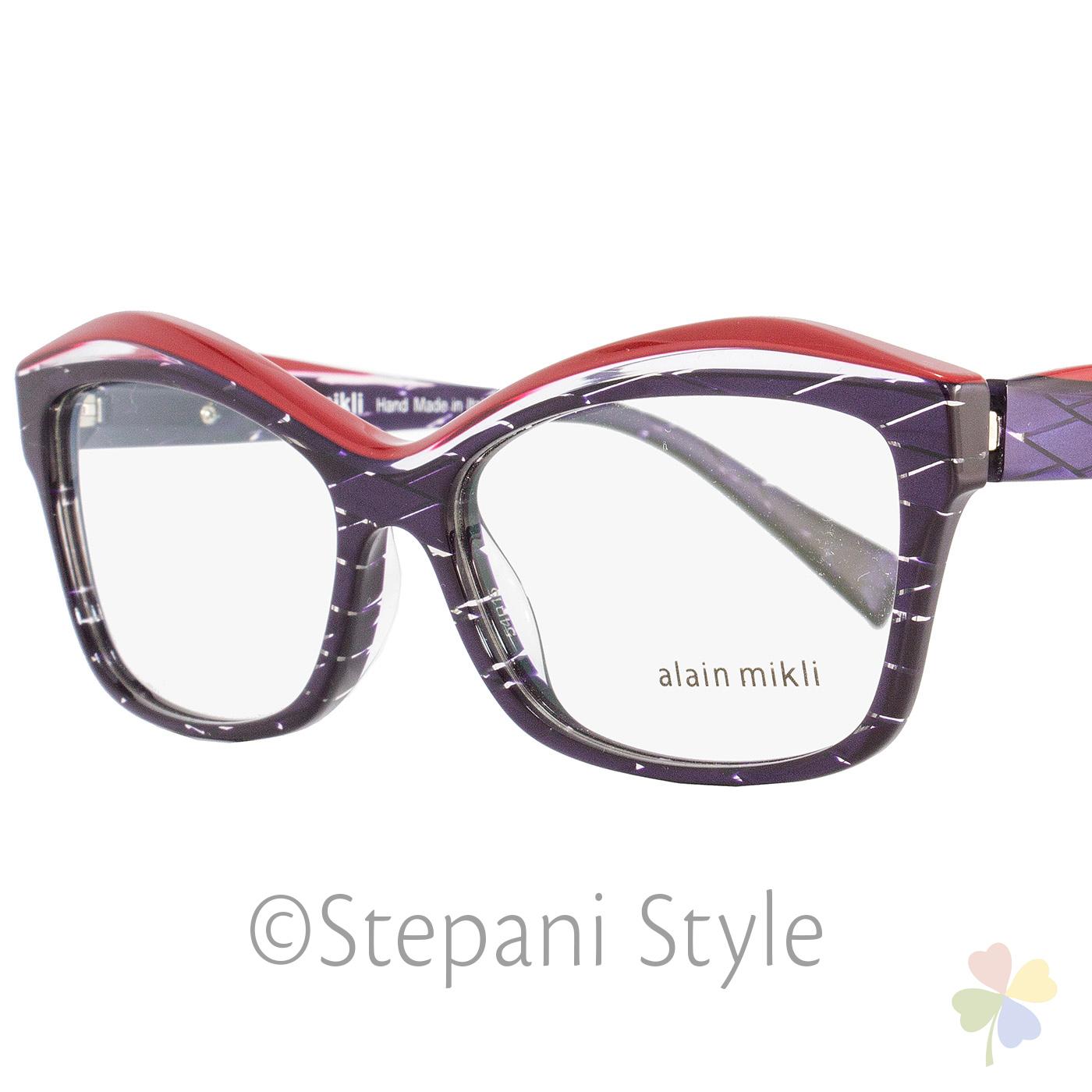 9b9226e320 Image is loading Alain-Mikli-Rectangular-Eyeglasses-A03042-R891-Size-54mm-