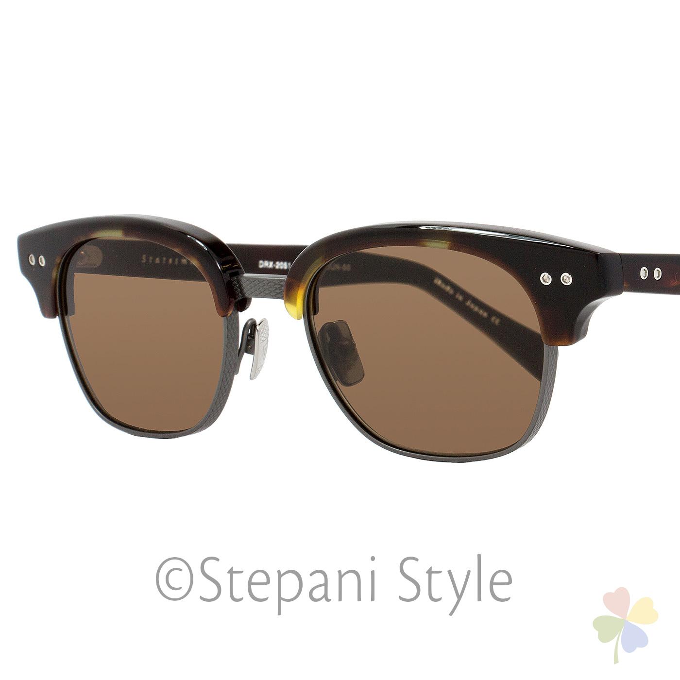 74cf80d2a754 Dita Oval Sunglasses DRX-2051 Statesman Two E-T-TRT-GUN Tortoise Gunmetal