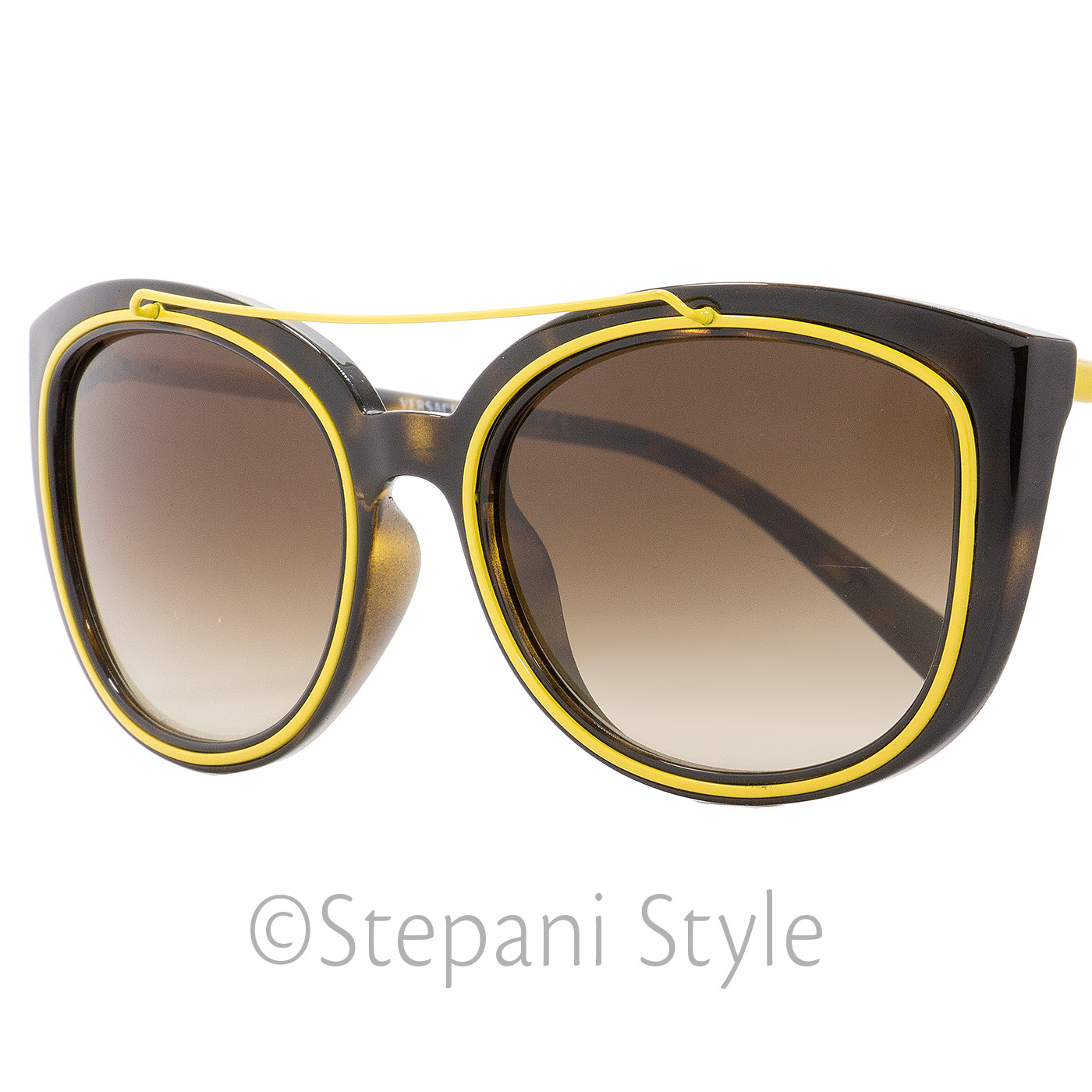 85c58c8afcbde Image is loading Versace-Oval-Sunglasses-VE4336-108-13-Havana-Yellow-