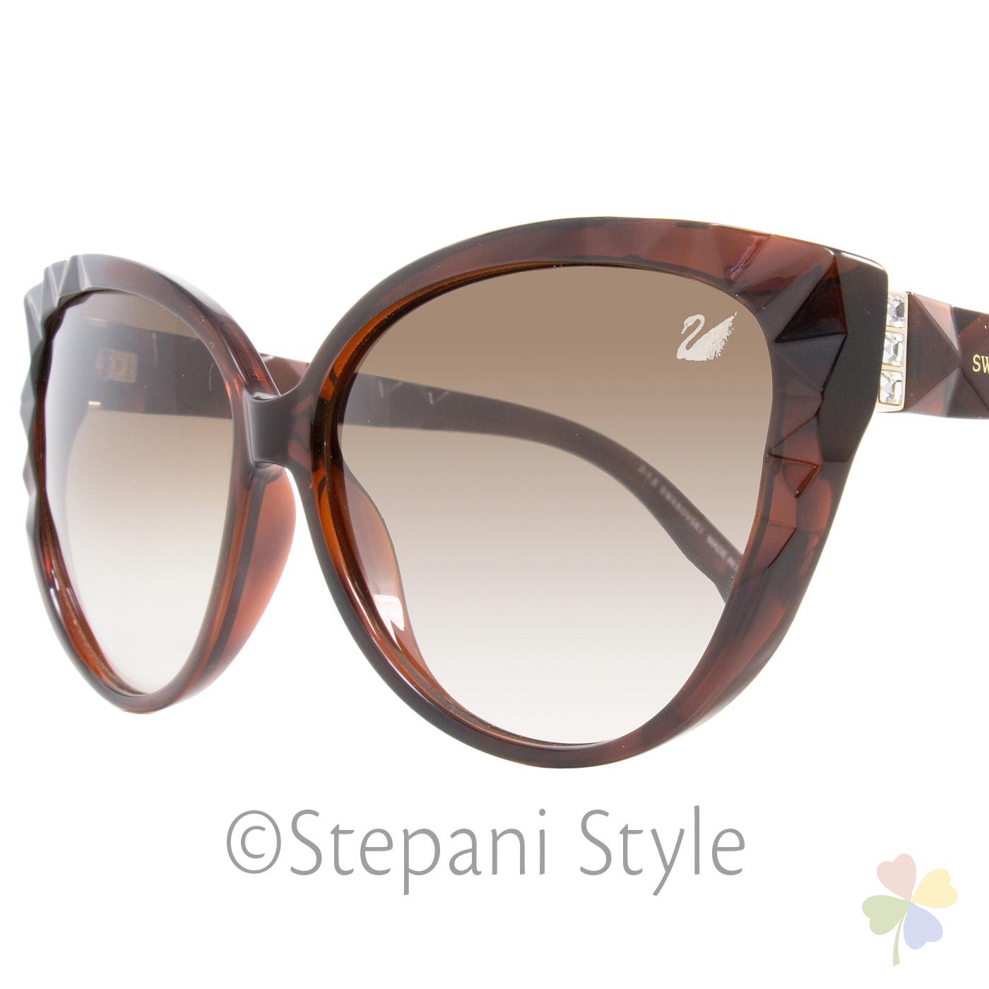 34707fc6cf Swarovski Cateye Sunglasses Sk0059 Delicious 52f Dark Havana Sw59 ...